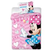 Disney Minnie Mouse Housse de couette Sweet BABY - 100 x 135 cm - Rose