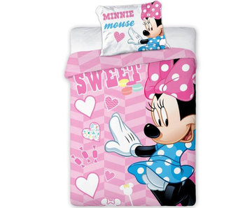Disney Minnie Mouse Sweet BABY Bettbezug 100X135 + 40X60cm. 100% Baumwolle