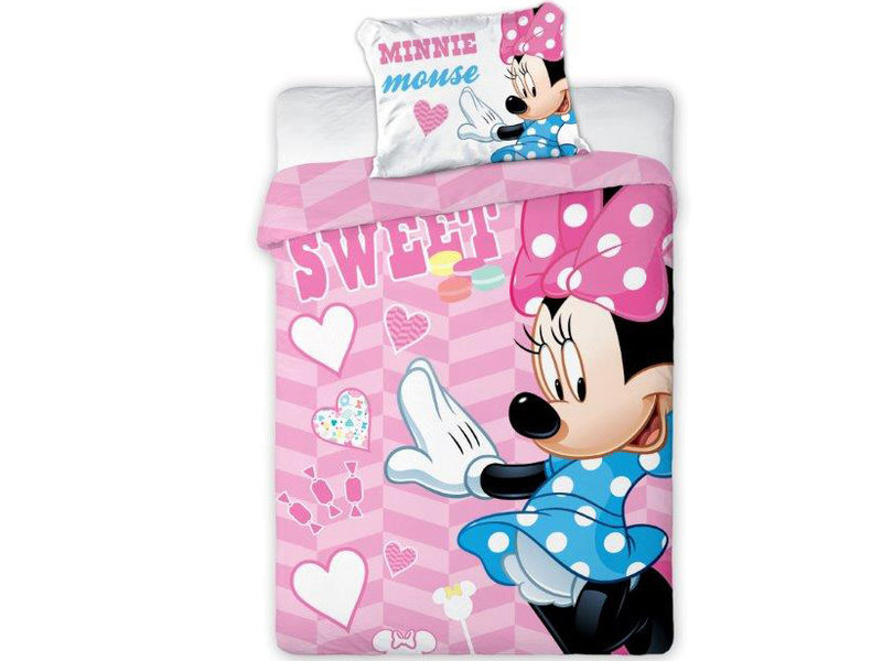 Disney Minnie Mouse Sweet BABY dekbedovertrek - 100 x 135 cm - Roze