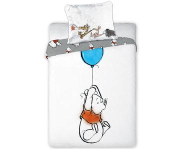 Winnie The Pooh Ballon BABY Bettbezug 100X135 + 40X60cm. 100% Baumwolle