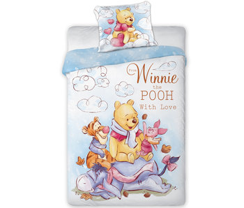 Disney Winnie the Pooh Dekbedovertrek With Love 140 x 200 cm