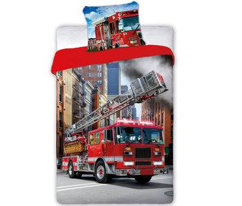 Brandweerwagen Housse de couette Fire 140 x 200 cm