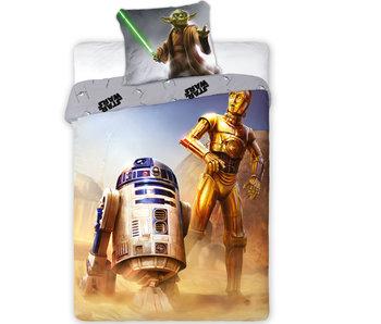 Star Wars R2-D2 Dekbedovertrek - Eenpersoons - 140 x 200 +70x90cm. 100% katoen