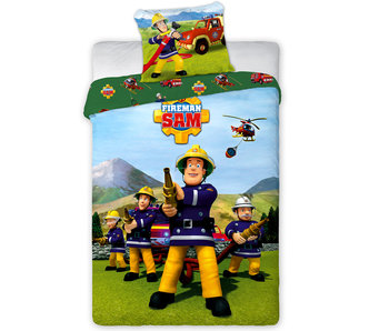 Brandweerman Sam Housse de couette Team 140 x 200 cm