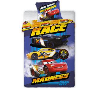 Disney Cars Dekbedovertrek  - Race Madness - Eenpersoons - 140 x 200 cm