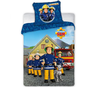 Brandweerman Sam Housse de couette Team BABY 100X135 + 40X60cm 100% coton