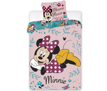 Disney Minnie Mouse Bettbezug Gartenblumen 140 x 200 cm
