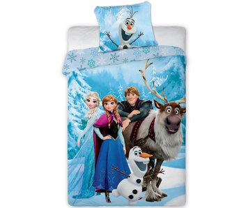 Disney Frozen Dekbedovertrek Family - Eenpersoons - 140 x 200 cm