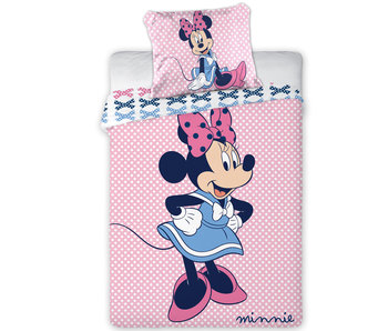 Disney Minnie Mouse Punkte BABY Bettbezug 100x135 + 40x60 cm