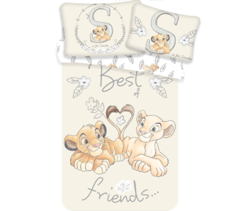 The Lion King BABY dekbedovertrek Best Friends 100 x 135 + 40 x 60 cm 100% katoen