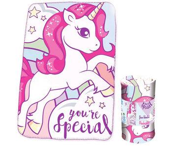 Unicorn Fleecedecke 100x150 cm