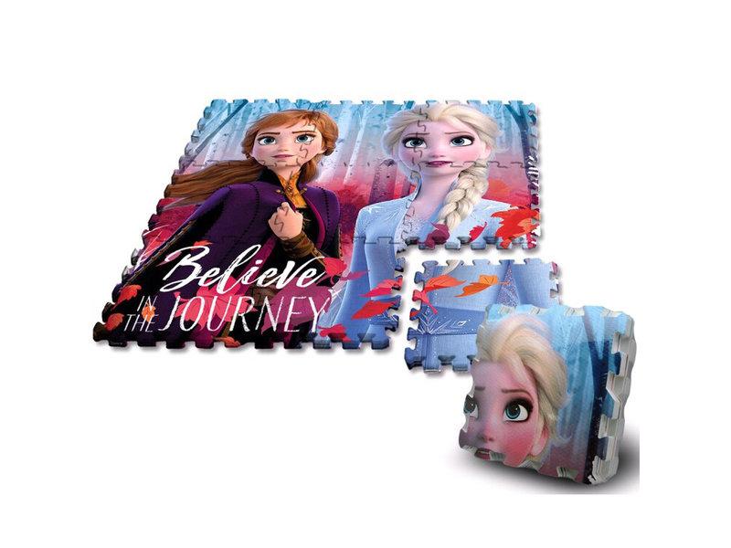 Disney Frozen Puzzle 2 étages - 90 x 90 cm - 9 pièces