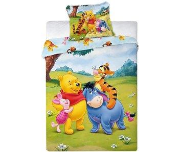 Winnie The Pooh Housse de couette BÉBÉ Friends 100X135 + 40X60cm. 100% coton
