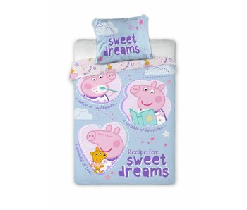 Peppa Pig Sweet Dreams BABY Bettbezug 100 x 135 cm + 40 x 60 cm