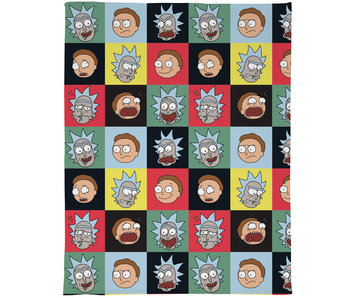 Rick and Morty Couverture polaire Patchwork 120 x 150 cm