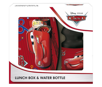 Disney Cars Set Lunchbox + Lightning McQueen Wasserflasche