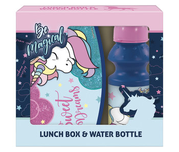 Unicorn set lunch box and water bottle