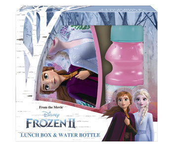 Disney Frozen Set Lunchbox + Bidon Anna en Elsa