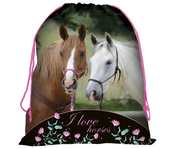 Animal Pictures Paarden Gymbag  44 x 34 cm
