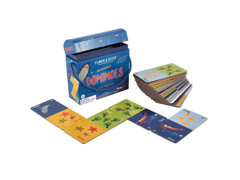 Floss & Rock Domino zweiseitiger Ozean - 13 x 13 cm
