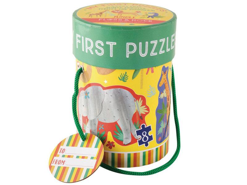 Floss & Rock Dschungel - Puzzles - 11 x 15 cm - 4 Stk