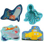 Floss & Rock Oceaan - puzzels - 11 x 15 cm - 4 stuks