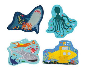 Floss & Rock Puzzles océaniques 4 pièces