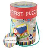Floss & Rock Construction - puzzles - 11 x 15 cm - 4 pcs