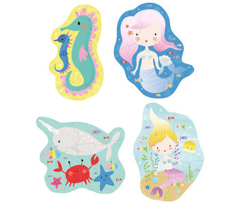 Floss & Rock Mermaid puzzles 4 pieces
