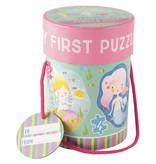 Floss & Rock Zeemeermin - puzzels - 11 x 15 cm - 4 stuks