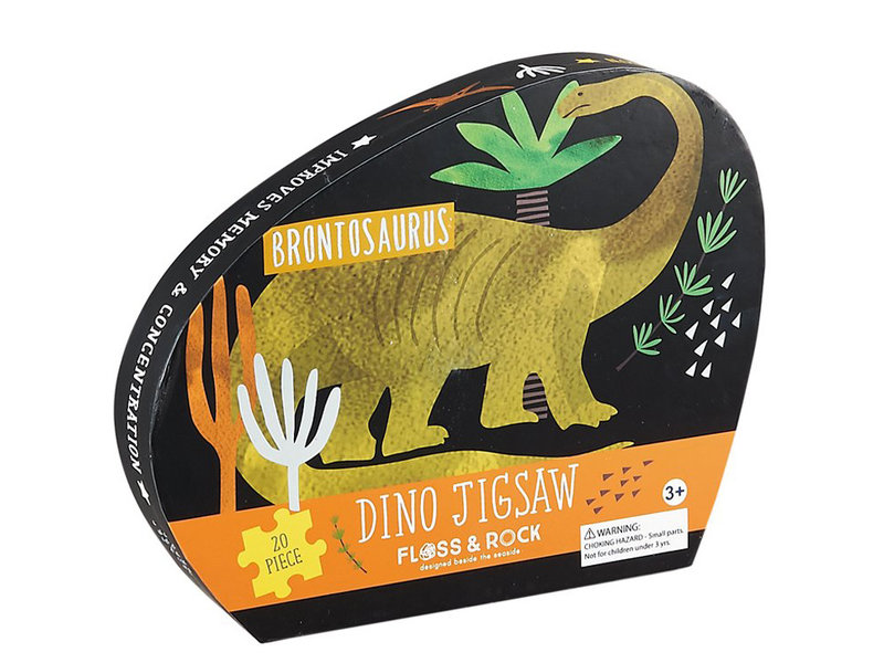 Floss & Rock Dinosaurus - puzzel - 20 stukjes - 38 x 33 cm - Multi