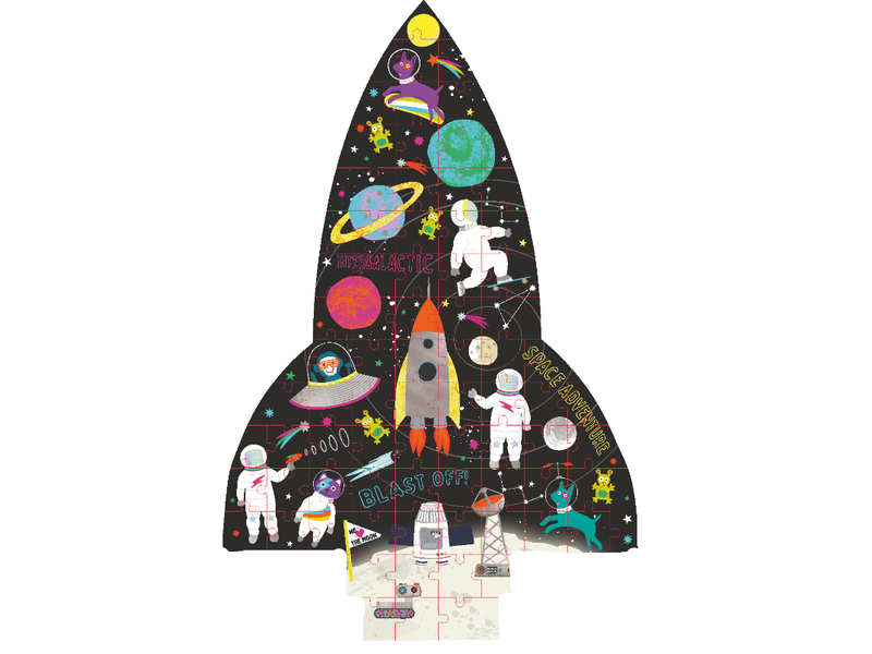 Floss & Rock Space - puzzel - 80 stukjes - 35 x 55 cm - Multi