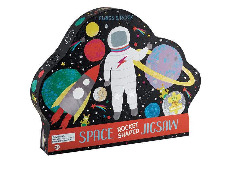 Floss & Rock Espace - puzzle - 80 pièces - 35 x 55 cm - Multi
