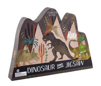 Floss & Rock Dinosaurier Puzzle 80 Teile