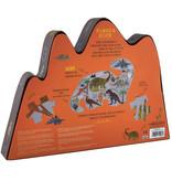 Floss & Rock Dinosaurier - Puzzle - 80 Teile - 35 x 55 cm - Multi