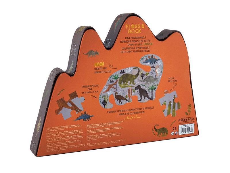 Floss & Rock Dinosaur - puzzle - 80 pieces - 35 x 55 cm - Multi