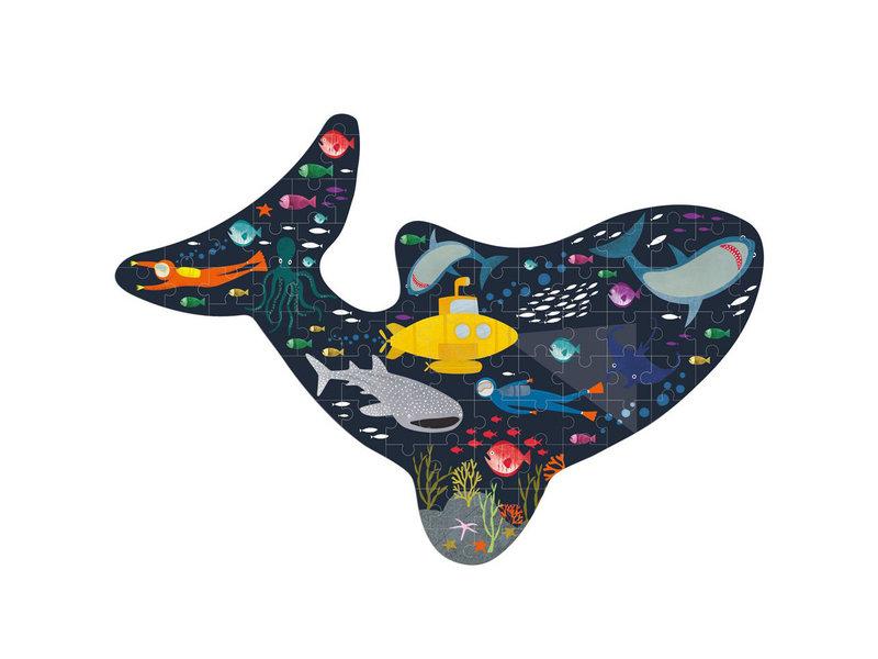 Floss & Rock Ozean - Puzzle - 80 Teile - 60 x 40 cm - Multi