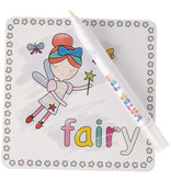 Floss & Rock Rainbow Fairy - water color cards - 19 x 18 cm - Multi