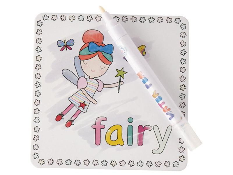 Floss & Rock Rainbow Fairy - water kleur kaarten - 19 x 18 cm -  Multi