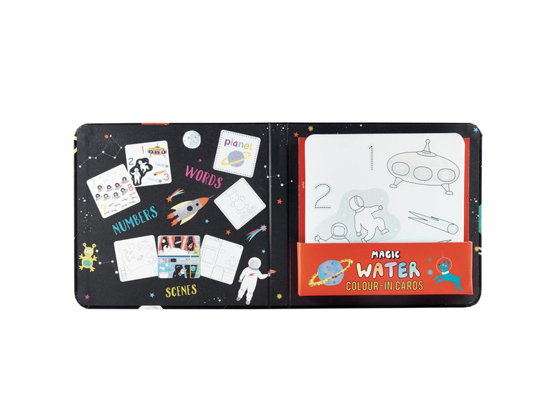 Floss & Rock Space - water color cards - 19 x 18 cm - Multi
