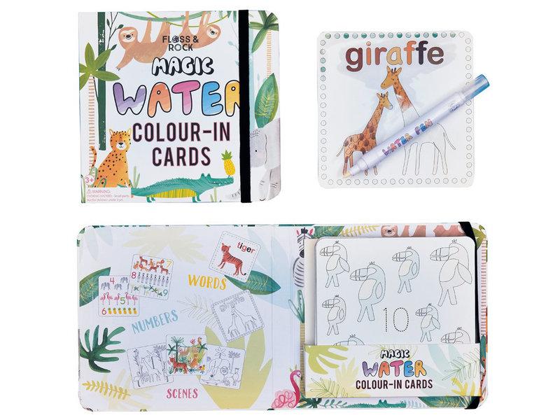 Floss & Rock Jungle - water color cards - 19 x 18 cm - Multi