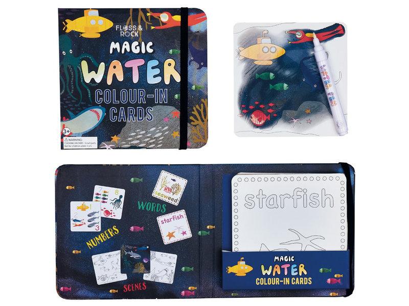 Floss & Rock Oceaan - water kleur kaarten - 19 x 18 cm -  Multi
