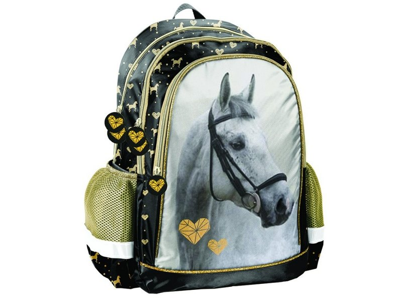 Animal Pictures Goldener Pferderucksack - 41 x 30 x 18 cm - Multi