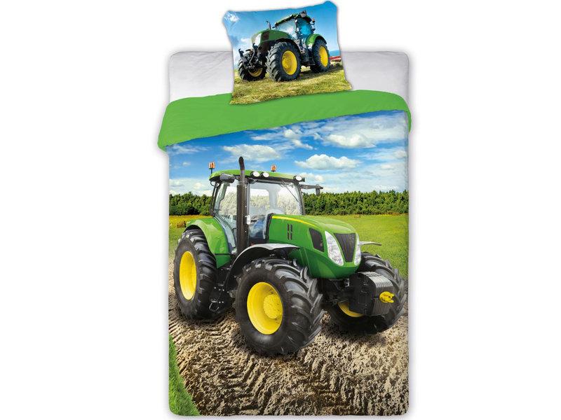 Traktor dekbedovertrek - Eenpersoons - 140 x 200 cm - Multi