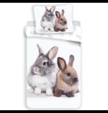 Animal Pictures Housse de couette Bunny Friends - Simple - 140 x 200 cm - Blanc