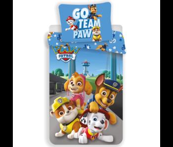 PAW Patrol Go Team Paw dekbedovertrek 140x200cm 70x90cm
