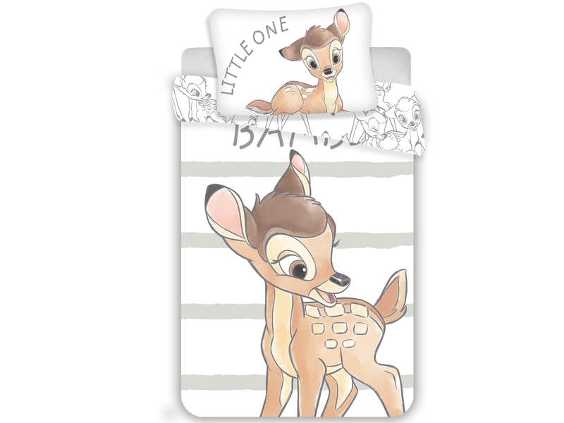 Disney Bambi BABY Dekbedovertrek Little One 100 x 135 cm - Wit