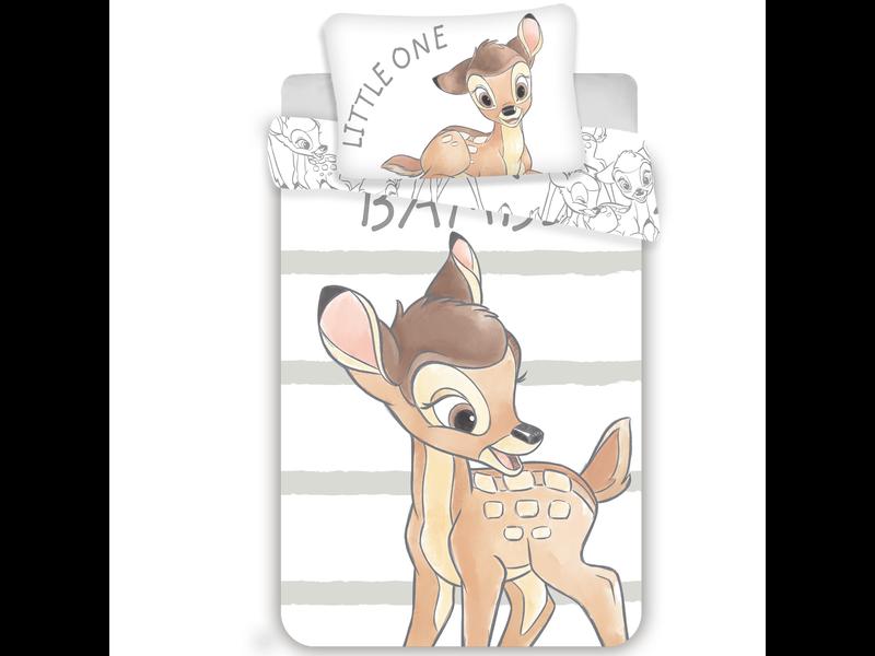 Disney Bambi Housse de couette bébé Little One 100 x 135 cm - Blanc