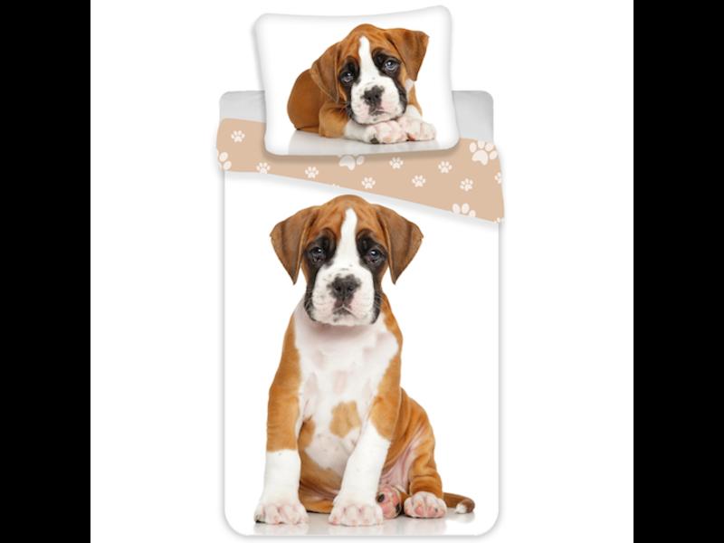 Animal Pictures Dekbedovertrek Hond - Eenpersoons - 140  x 200 cm - Multi