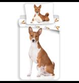 Animal Pictures Dekbedovertrek Hond - Eenpersoons - 140  x 200 cm - Wit